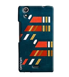 Omnam Orange And Blue Pattern Printed Designer Back Cover Case For Micromax Selfie 2