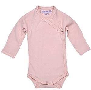Under The Nile Long Sleeve Babybody w/Side Snap (Blush) - 3-6 months from Under The Nile