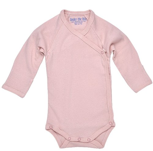 Under The Nile Long Sleeve Babybody W/Side Snap (Blush) - 3-6 Months front-587101