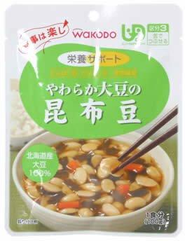 和光堂 食事は楽しやわらか大豆の昆布豆 100g