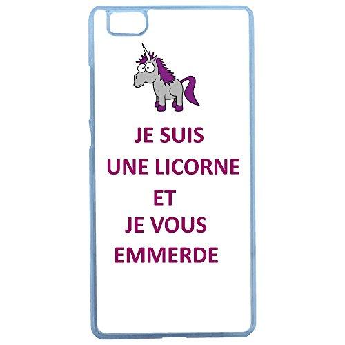 Aux-Prix-Canons-Etui-housse-coque-humour-licorne-je-t-emmerde-Huawei-P8-Lite
