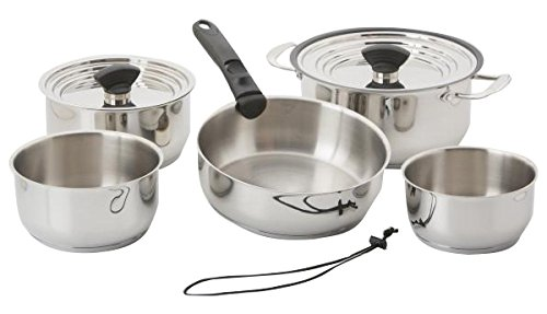 Galleyware Company 14 Piece Nesting Stainless Steel Induction Cookware Set, Large, Silver