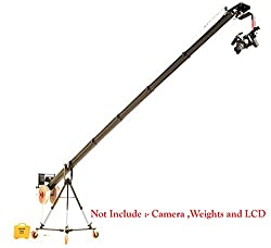Flyfilms Professional Big 22ft Kite Popular Package Video Film Jib Crane boom Pan Tilt Motorized Head tripod Stand With Floor dolly for Movie film Video Shooting