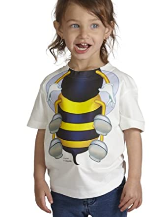 Justaddakid Bee Body Outfit Toddler White T-Shirt