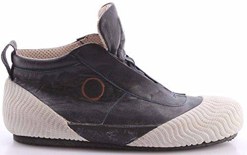 Scarpe Sneakers Uomo MOMA 13501-5 Softy White Bianco Nero Vintage Italy Nuove