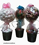 Make your own - Sweet Tree Kit, Polystyrene ball, planter, dowel, plaster xmas