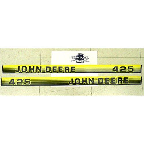 John Deere 425 hood decal set for tractors under serial 070000 M116142 M116143