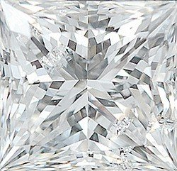 AfricaGems - Princess Shape Genuine Loose Fine Quality Diamond G-H Color - SI2/SI3 Clarity 0.15 carats, 1.25 mm in Size