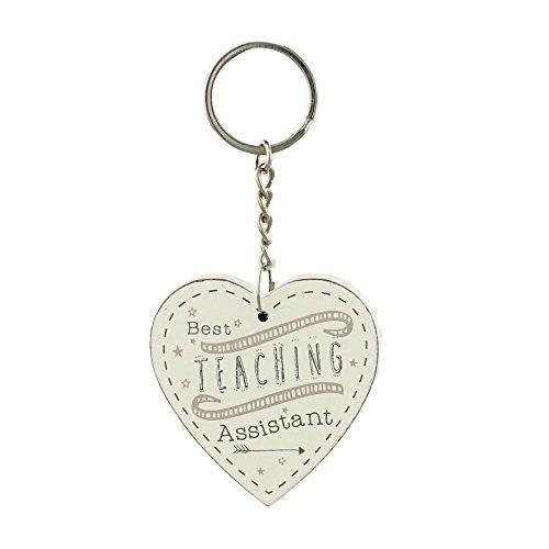 """Best Teaching Assistant-Portachiavi a forma di cuore, fine della scuola con scritta """"Thank you"""", confezione regalo"""