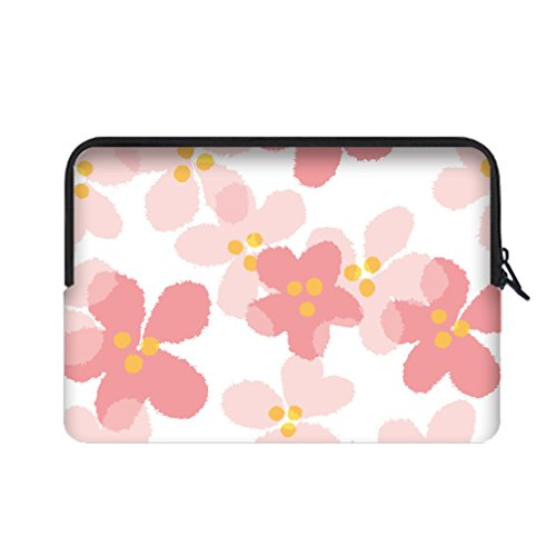 [JIUDUIDODO Neoprene Custom Halloween Gift Cute Pink Portable Macbook Air Bag Sleeve for Macbook Air 12