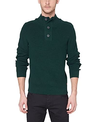 QS by s.Oliver Jersey Verde Oscuro