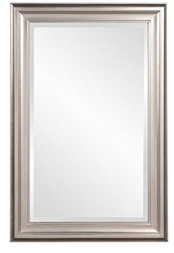Howard Elliott 53048 George Rectangular Mirror, Brushed Nickel