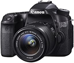 Canon EOS 70D Camera - Black (20.2MP, 18-55mm IS STM Lens) 3.0 inch LCD