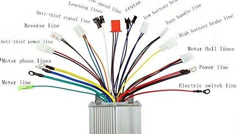 36v/48v 350w brushless motor controller eabs hall hallless ... 24 volt ez go wiring diagram