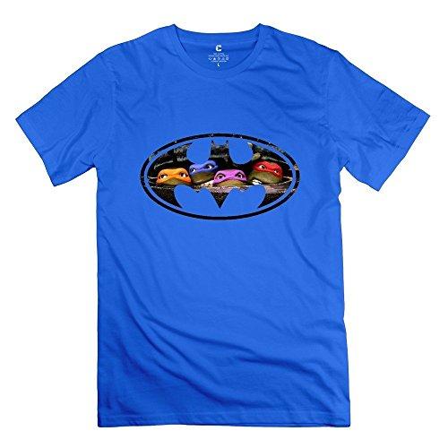 Giscbuyshop Men's Summer TMNT Batman Logo T-shirt DeepHeather Size XXL