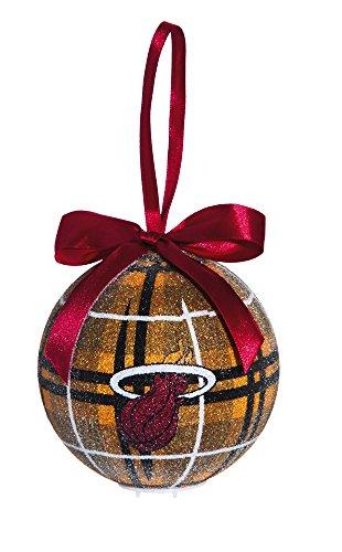 100Mm Led Ball Ornament, Miami Heat
