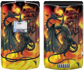 Dragon Wars Design Protective Skin Decal Faceplate for Motorola RAZR V3/ V3i/ V3c/ V3m/ V3r/ V3t Cell Phones