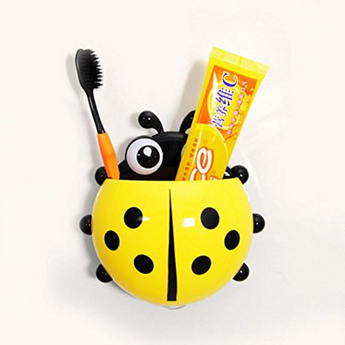 Money coming shop Cartoon Coccinella Septempunctata/Ladybug Sucker Toothbrush Holder Suction Hooks Household Items Bathroom Toothbrush Rack (Freestanding Cadet compare prices)