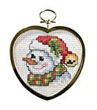 Festive Snowman Ornament With Frame Cross Stitch Kit