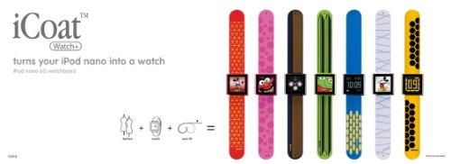 iCoat watch リストウォッチ型シリコンケース for iPod nano 6th グリーン