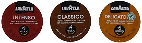 30 Count - Lavazza Sampler Pack for Keurig Rivo (3 Flavors, 10 Pods Each) *No Decaf* (Keurig Single Cups compare prices)