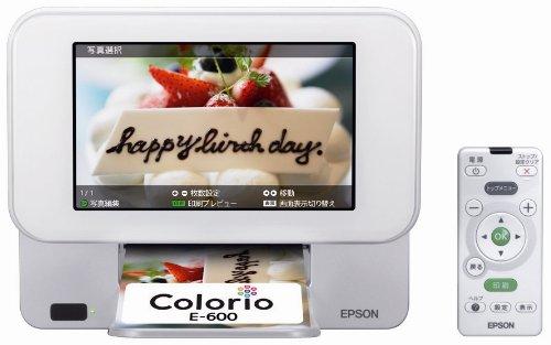 EPSON Colorio me コンパクトフォトプリンター 7.0型TFTカラー液晶 デジタルフォトフレーム機能 E-600