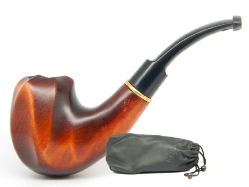 """Wooden Tobacco Smoking Pipe """" VOLCANO II"""" Pear wood, Hand finished, Great Collectible + Gift POUCH"""