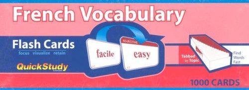 French Vocabulary (Quickstudy)