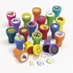 50 Assorted Plastic Stamps