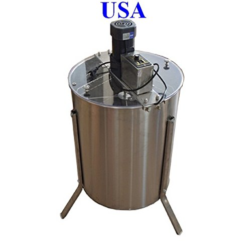 Electric 4 Frame 304 Stainless Steel Honey Extractor With Stand Beekeeping (Electric Honey Extractor compare prices)