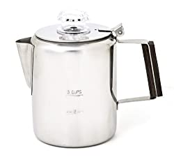 Chinook Timberline Stainless Steel 3 Cup Coffee Percolator from Chinook