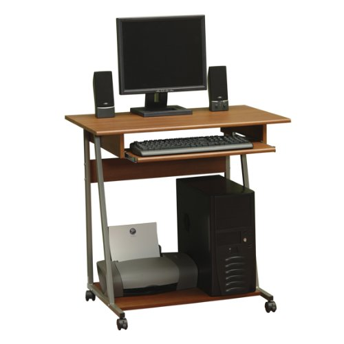 Buy Low Price Comfortable Mobile Computer Desk Cart – Colonial Maple Finish (B004XEKJR8)