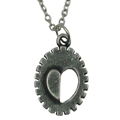 """Jewish Jewelry, Two Oval Shaped, Silver Plated Necklace With Nickel Finish And Ridged Edge, Heart Shape Symbol Design Cut Out With 18"""" Chain. Great Gift For: Yom Kippur Rosh Hashanah Shabbat Purim Sokot Simchat Torah Hanukkah Passover Lag Baomer Shavuot B"""