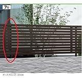 三協アルミ エクモアX7型 フリー支柱 2008用 【アルミフェンス 柵】  ダークブロンズ