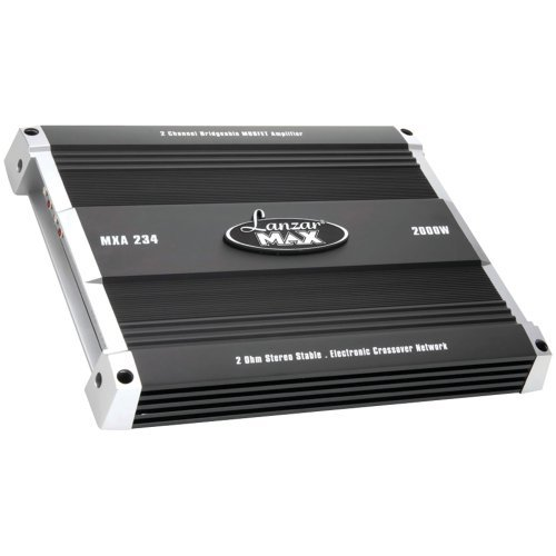 Lanzar Mxa234 2000 Watt 2 Channel Bridgeable Mosfet Amplifier