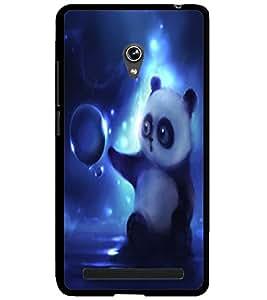 ColourCraft Cute Panda Design Back Case Cover for ASUS ZENFONE 6 A600CG
