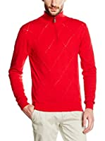"William De Faye"" Men"" Jersey Cuello Alto (Rojo)"