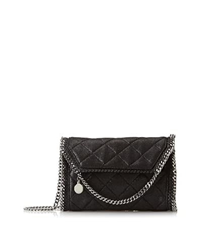 Stella McCartney Women's Quilted Shaggy Deer Mini Shoulder Bag, Black, One Size