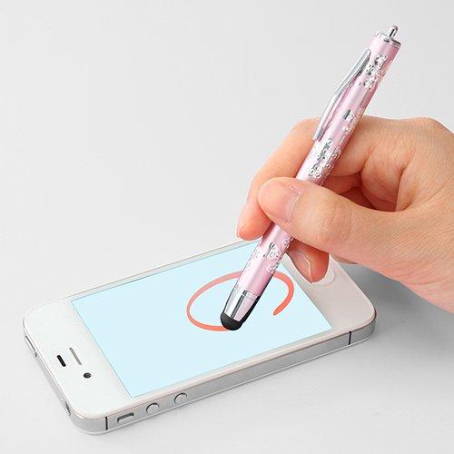 サンワダイレクト タッチペン iPhone Xperia ray など スマートフォン 対応 花柄ピンク 200-PEN005PK
