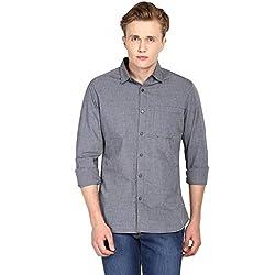 Hueman Grey Full Sleeve Cotton Shirt