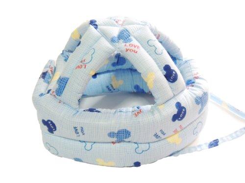 衝撃吸収 赤ちゃん ベビー ヘルメット 安全対策 (ブルー)