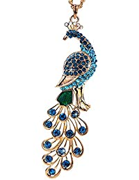 YouBella Jewellery Gracias Collection Peacock Shape 10 Cm Long Pendant / Necklace For Women And Girls