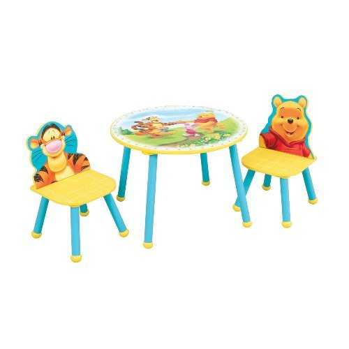 disney winnie the pooh children 39 s table and chair set. Black Bedroom Furniture Sets. Home Design Ideas