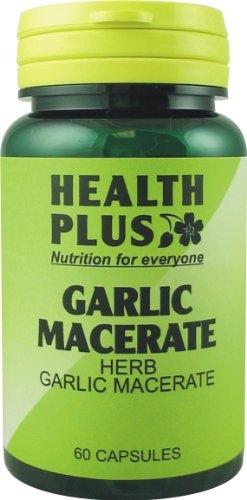 Health Plus Garlic Macerate Digestive Health Plant Supplement 530mg (60 Capsules)
