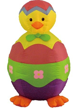 4 Foot Easter Inflatable Chick and Egg