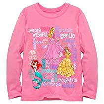 Organic Long-Sleeve Words Disney Princess Tee