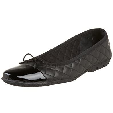 Paul Mayer/Attitudes Women's Cozy Flat, Black/Lambarda, 5