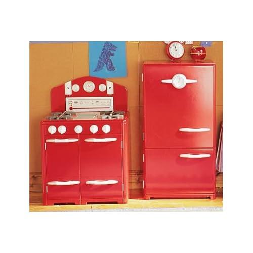 Amazon Com Pottery Barn Kids Red Retro Kitchen Oven