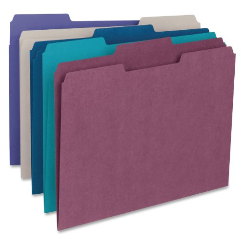 Smead file folder 1 3 cut tab letter size assorted for Smead letter size file folders