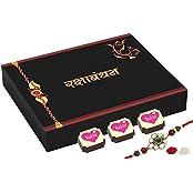 CHOCOCRAFT - Rakhi Gift For Sister - Happy Rakshabandhan Gift For Sister - 9 Chocolate Gift Box With Rakhi
